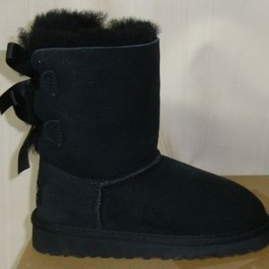 UGG Australia BAILEY BOW  Suede Boots TODDLER 11